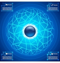 social network infographic abstract background vector image vector image