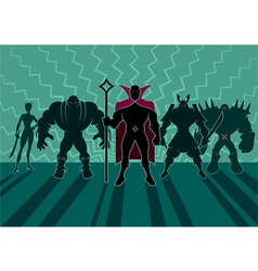 Supervillain Team vector image vector image