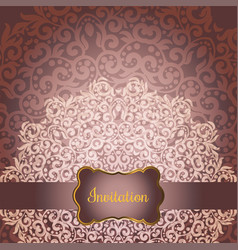 Wedding invitation or greeting card vector