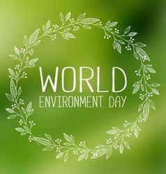 World environment day banner vector