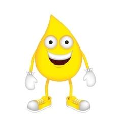 Yellow drop cartoon drop icon image vector