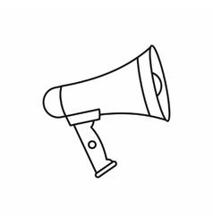 Loudspeaker icon outline style vector