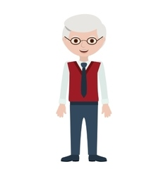 Isolated grandfather cartoon design vector