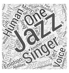 The magic of jazz singers word cloud concept vector