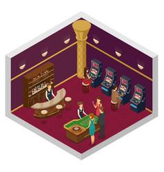 casino isometric interior vector image