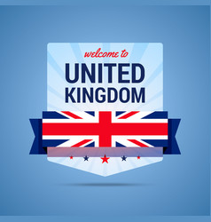 Welcome-to-uk vector
