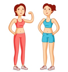 Fit girls vector