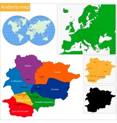 Andorra map vector