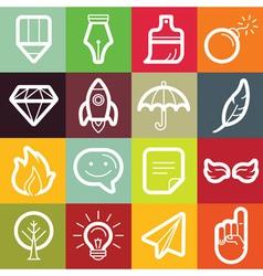 set of design elements and logo symbols vector image