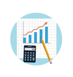 Financial planning with calculator and pencil vector