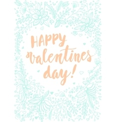 Hand drawn valentines day card design with vector