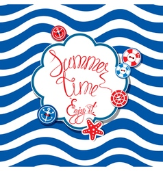 Summer card striped 380 vector