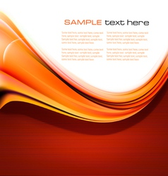 New abstract orange background vector