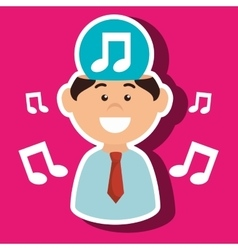 Man music idea isolated icon design vector