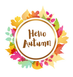 abstract autumn round banner vector image vector image