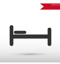 Bed icon flat design style templa vector