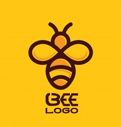 Bee logo 1 vector