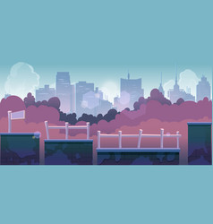 city game background 2d game application vector image vector image