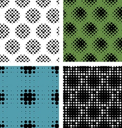 Collection seamless patern with halftone effects vector