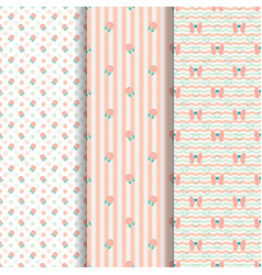 cute pattern lollipop and bow in old rose vector image