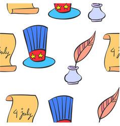 Doodle of element memorial day vector