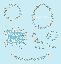 Easter Floral Design Elements vector image vector image