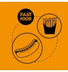 Flat about fast food design vector image vector image