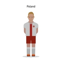 Football kit poland vector