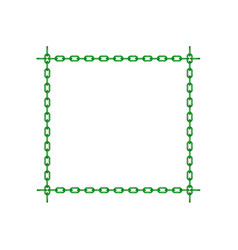 green chain in shape of square vector image vector image