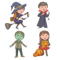 Halloween kids vector
