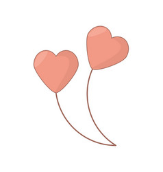 Heart shape balloons love decoration vector