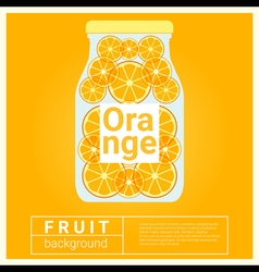 Infused water fruit recipe with orange vector