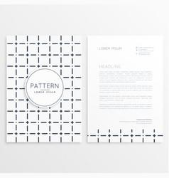Minimal company brochure template vector