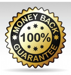 money back label vector image vector image