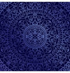oriental blue background with ornament vector image