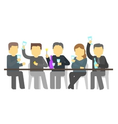 Party five people booze vector