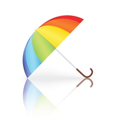 rainbow umbrella vector image vector image
