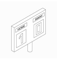 Scoreboard icon isometric 3d style vector