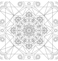 seamless pattern in Eastern style Vintage vector image