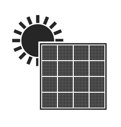 solar battery source of energy flat icon vector image