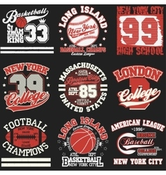 Sport t-shirt set vector