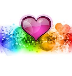 valentine background vector image vector image