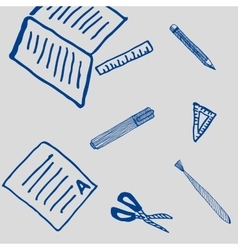 School drawing and writing tools pattern vector