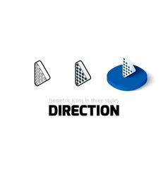Direction icon in different style vector