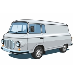 Commercial van vector