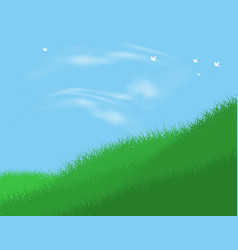Peaceful landscape vector