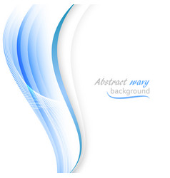 abstract background with transparent blue wavy vector image