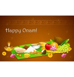 Onam feast vector