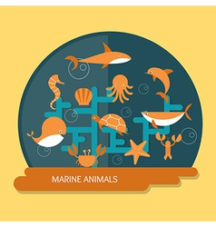 Ocean conservation vector