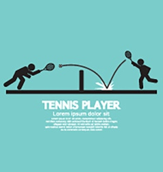 Tennis player graphic symbol vector